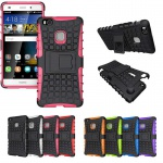 Hybrid Case 2teilig Outdoor Pink für Huawei P9 Lite Tasche Hülle Cover Schutz