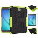 Hybrid Outdoor Tasche Grün für Samsung Galaxy Tab A 9.7 T550 + 0.4 H9 Hartglas