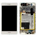 Huawei Display LCD Einheit Rahmen für P9 Lite Full Service Pack 02350SLF Weiß