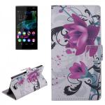 Schutzhülle Muster 3 für Wiko Ridge 4G Bookcover Tasche Hülle Wallet Case Flip