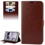 Schutzhülle Braun für Huawei Ascend Mate 2 4G Bookcover Tasche Hülle Wallet