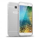 Alu Bumper 2 teilig Silber für Samsung Galaxy A7 2016 A710F Hülle Case Tasche