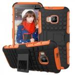 Hybrid Case 2teilig Robot Orange Cover Kappe Zubehör für HTC One 3 M9 2015 Hülle