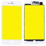 Display Glas für Apple iPhone 7 4.7 LCD Displayglas + Rahmen + OCA Kleber Weiß