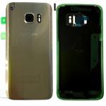 Samsung GH82-11384C Akkudeckel für Galaxy S7 G930 G930F + Klebepad Adhesive Gold