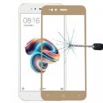 Premium 0, 3 mm gebogenes H9 Panzerglas Gold Folie für Xiaomi Mi 5X Schutz Neu