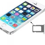 Sim Karten Halter Sim Tray Sim Nano Holder für Apple iPhone 5S 5 Silber / GrauZubehör