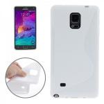 Silikonhülle S-Line Weiss Cover Hülle für Samsung Galaxy Note 4 N910 N910F Neu