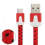 1m USB Daten und Ladekabel Rot für alle Smartphone und Tablet Micro USB Zubehör