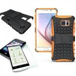 Hybrid Hülle 2teilig Orange für Samsung Galaxy Note 5 SM-N920 F + Panzerglas Neu