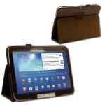 Schutzhülle Braun Hülle Case für Samsung Galaxy Tab 3 10.1 P5200 P5210 + Folie