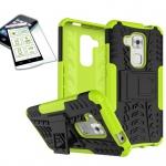 Hybrid Case Tasche Outdoor 2teilig Grün für Huawei Nova Plus + Panzerglas Cover