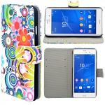 Schutzhülle Wallet Tasche Muster 1 für Sony Xperia Z3 D6653 L55T Case Hülle Etui