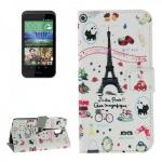 Schutzhülle Muster 43 für HTC Desire 526G Bookcover Tasche Hülle Wallet Case Neu