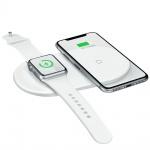 Baseus Ladestation für Smartphone Apple Watch Docking Station Dock Wireless Weiß