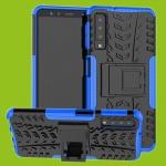 Für Samsung Galaxy A9 A920F Hybrid Case 2teilig Outdoor Blau Tasche Hülle Cover