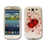 Backcover Motiv 7 für Samsung Galaxy S3 i9300 Zubehör Silikon Schutz + Folie Neu