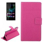Schutzhülle Pink für Wiko Ridge Fab 4G Cover Bookcover Tasche Hülle Wallet Case