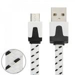 1m USB Daten und Ladekabel Weiß für alle Smartphone und Tablet Micro USB Zubehör