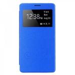 Smartcover Window Hellblau für Samsung Galaxy Note 4 N910 N910F Tasche Cover Neu