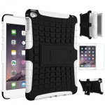 Hybrid Outdoor Schutzhülle Weiß für iPad Pro 12.9 Tasche + 0.4 H9 Panzerglas Neu
