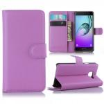Schutzhülle Lila für Samsung Galaxy A3 2016 A310F Tasche Hülle Wallet Case Etui