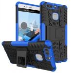 New Hybrid Case 2teilig Outdoor Blau für Huawei P9 Tasche Hülle Cover Schutz Neu