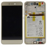Huawei Display LCD Einheit + Rahmen für P8 Lite 2017 Service Pack 02351DLS Gold