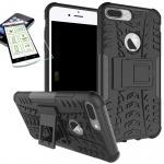 Hybrid Tasche Outdoor 2teilig Schwarz für Apple iPhone 8 7 Plus 5.5 Hülle Glas