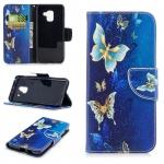 Tasche Wallet Premium Motiv 26 für Samsung Galaxy A8 2018 A530F Hülle Case Etui