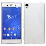 Silikoncase S-Line Weiß Hülle Tasche Zubehör für Sony Xperia Z3 Plus + / Dual