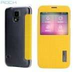 Original ROCK Smartcover Gelb für Samsung Galaxy S5 Tasche Cover Case Hülle Neu