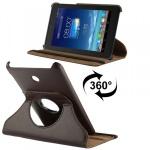 Hochwertige Tasche 360 Grad Braun für Asus Fonepad 7 Hülle Case Kunstleder Neu