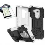 Hybrid Case Tasche Outdoor 2teilig Weiß für Huawei Nova Plus + Panzerglas Cover