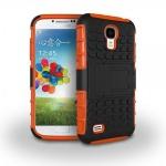 Hybrid Hülle 2 teilig Outdoor Orange Tasche für Samsung Galaxy S4 i9500 i9505