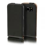 Flip Tasche Deluxe Schwarz für Samsung Galaxy S5 Neo SM G903F Hülle Case Etui