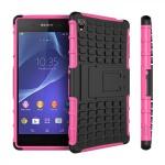 Hybrid Case 2teilig Robot Pink Tasche Hülle für Sony Xperia Z3 Plus E6553 / Dual