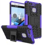 New Hybrid Case 2teilig Outdoor Lila für Huawei P9 Tasche Hülle Cover Schutz Neu