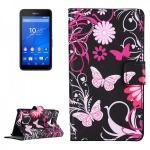 Schutzhülle Muster 4 für Sony Xperia E4G Bookcover Tasche Hülle Wallet Case