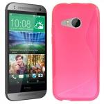 Silikonhülle Design S-Line Pink Hülle Case Cover für HTC One Mini 2 M5 2014 Neu