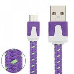 1m USB Daten und Ladekabel Lila für alle Smartphone und Tablet Micro USB Zubehör