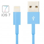 USB Datenkabel Blau IOS 7 / 8 für Apple iPhone 5 5S 5C iPad 4 Air Mini Retina Neu