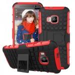 Hybrid Case 2teilig Robot Rot Cover Kappe Hülle Zubehör für HTC One 3 M9 2015