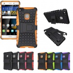 Hybrid Case 2teilig Outdoor Orange für Huawei P9 Lite Tasche Hülle Cover Neu