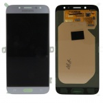 Display LCD Komplettset GH97-20736B Silber für Samsung Galaxy J7 J730F 2017 Neu