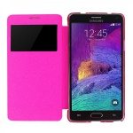 Smartcover Window Pink für Samsung Galaxy Note 4 N910 N910F Tasche Cover Hülle