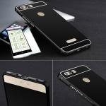 Alu Bumper 2 teilig Schwarz + 0, 3 H9 Hartglas für Huawei Honor 8 Tasche Hülle