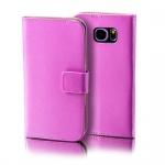 Schutzhülle Pink für Samsung Galaxy S7 Plus Bookcover Tasche Hülle Case Etui Neu