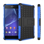 Hybrid Case 2teilig Robot Blau Tasche Hülle für Sony Xperia Z3 Plus E6553 / Dual