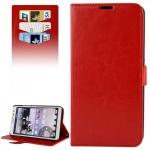 Schutzhülle Rot für Huawei Ascend Mate 2 4G Bookcover Tasche Hülle Wallet Case